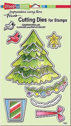 CHRISTMAS TREE Dies Craft Die Cutiing Die Set Stampendous DCS5080 NEW