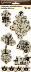 Christmas Tree Gift Candy Unmounted Cling Rubber Stamp Set by Recollections New