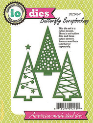 Christmas Trees Die Cutting Dies 3 Trees by Impression Obsession DIE240-V New
