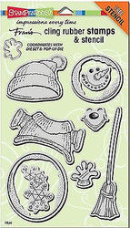 CHRISTMAS WINTER SNOWMAN Unmounted Cling Rubber Stamps Set Stampendous CRS5079