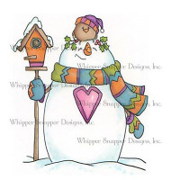 CHRISTMAS WINTER SNOWMAN Unmounted Rubber Stamp Whipper Snapper Design MY640 NEW