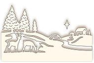 Christmas Winter Trees Deer Scene Die Cutting Die WILD ROSE STUDIO SD061 New