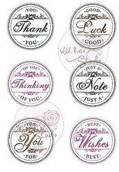 Circle Greetings Clear Unmounted Rubber Stamp Wild Rose Studio # CL230 New