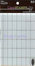 Clear Acrylic Mounting Block 4x6 with Grid For Clear & Cling Rubber Stamps NEW