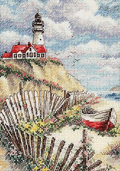 Cliff LIGHTHOUSE Gold Collection Petites Dimensions Cross Stitch Kit 65021 NEW