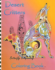 Coloring Book Desert Criters Animal Spirits 15 Pages EARTH ART Sue Coccia New
