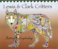 Coloring Book Lewis & Clark Animal Spirits 15 Pages Watercolor EARTH ART New