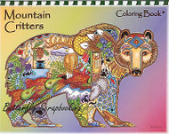 Coloring Book Mountain Criters Animal Spirits 15 Pages EARTH ART Sue Coccia New