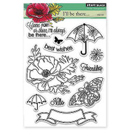 Come Rain Or Shine, Clear Unmounted Rubber Stamp Set PENNY BLACK- NEW, 30-236