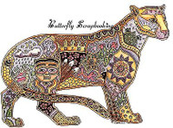 COUGAR Animal Spirit Cling Unmounted Rubber Stamp EARTH ART Sue Coccia New