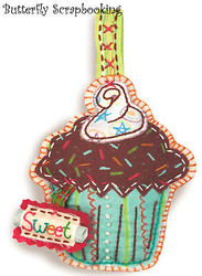 Cupcake Ornament Sweet Embroidery Kit by Dimensions 72-73579 NEW