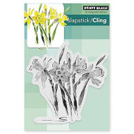 Daffodil Dance, Cling Style Unmounted Rubber Stamp PENNY BLACK - NEW, 40-378