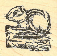 Dan's Chipmunk, Wood Mounted Rubber Stamp NORTHWOODS - NEW, CC6886