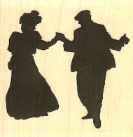 Dancing Couple, Wood Mounted Rubber Stamp IMPRESSION OBSESSION - NEW, E13265