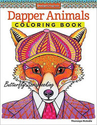 DAPPER ANIMALS Coloring Book For Markers & Colored Pencils Design Originals New