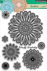 Dazzlers Stamp Set, Clear Unmounted Rubber Stamp Set PENNY BLACK - NEW, 30-237