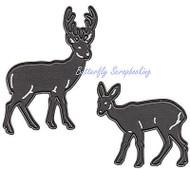 Deer Buck & Doe Craft Steel Dies by Marianne Design Craftables Die CR1289 New