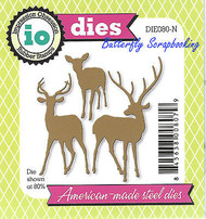 Deer Buck Doe Set American Made Steel Dies by Impression Obsession DIE080-N New