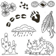 DESERT Background Images Clear Unmounted Rubber Stamps EARTH ART Sue Coccia