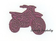 DIRT BIKE MOTERCYCLE Die Craft Steel Cutting Die CHEERY LYNN DESIGNS B497 New