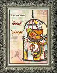 Do What Your Soul Sings Bird Embroidery Kit Lori Siebert Dimensions 72-73742 NEW