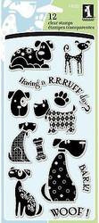 DOG DOGS WOOF Clear Unmounted Rubber Stamp Set INKADINKADO 97620 NEW