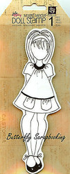 Doll Stamp PRIMA MARKETING INC Cling Foam Unmounted Rubber Stamp NEW, #910150