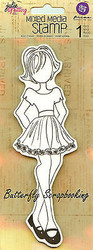 Doll Stamp PRIMA MARKETING INC Cling Foam Unmounted Rubber Stamp NEW, #910273
