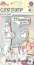 Doll Stamp Set PRIMA MARKETING INC Cling Foam Unmounted Rubber Stamp NEW #910488