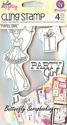 Doll Stamp Set PRIMA MARKETING INC Cling Foam Unmounted Rubber Stamp NEW #910495