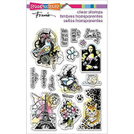Eclectic Charms, Clear Unmounted Rubber Stamp Set STAMPENDOUS - NEW, SSC1217