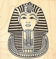 Egypt King Tut Mask Wood Mounted Rubber Stamp JUDIKINS, NEW - 2375G