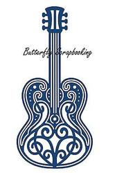 ELEGANT LACE MUSIC GUITAR DIE Craft Die Cutting Die Tattered Lace Die D215 New