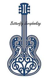 ELEGANT LACE MUSIC GUITAR DIE Craft Die Cutting Die Tattered Lace Die D215 New