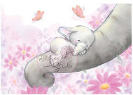 Elephant Bela Sleeping Unmounted Rubber Stamp Wild Rose Studio # CL225 New