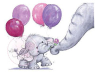 Elephant Bela With Mum Unmounted Rubber Stamp Wild Rose Studio # CL224 New