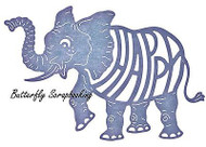 ELEPHANT HAPPY Elephant Die Steel Die Cutting Die CHEERY LYNN DESIGNS B562 New