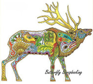 ELK BULL ELK Animal Spirit Cling Unmounted Rubber Stamp EARTH ART Sue Coccia New