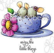 ENJOY LITTLE THINGS Set Cling Unmounted Rubber Stamp Stamping Bella EB289 NEW