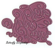 Faith Hope Love Die Steel Die Cutting Die CHEERY LYNN DESIGNS B565 NEW