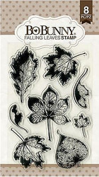 FALL LEAVES Autumn Leaf Clear Unmounted Rubber Stamps Set BOBUNNY 12105154 New