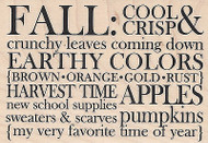 Fall Leaves Colors Words Wood Mounted Rubber Stamp IMPRESSION OBSESSION 14019New