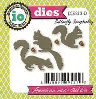 Fall Squirrel Set American Made Steel Dies by Impression Obsession DIE213-D New