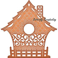 Fancy BIRDHOUSE Die Steel Die Cutting Die CHEERY LYNN DESIGNS B558 NEW