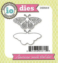 Fancy Butterfly American made Steel Dies by Impression Obsession DIE059-N New