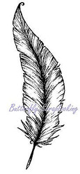 Feather Cling Unmounted Rubber Stamp MAGENTA C42191-K NEW