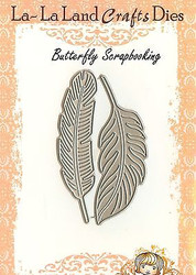 FEATHER Set American made Steel Dies by La La Land Crafts DIE 8098 New