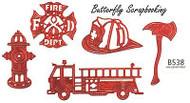 FIRE DEPARTMENT Dies US made Steel Die by Cheery Lynn Designs DIE B538 New