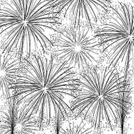 Fire Works Cover A Card Background Unmounted Rubber Stamp Impression Obsession N