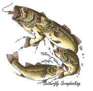 Fishing Large Mouth Bass Cling Unmounted Rubber Stamp C.C. Designs JD1045 New